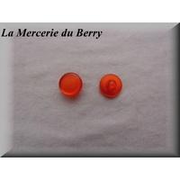 Bouton orange, 14 mm