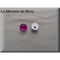 Bouton demie-boule, violet