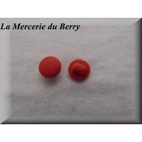 Bouton rouge mat