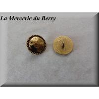 Bouton métal doré, avec liseret