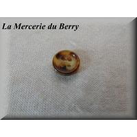 Bouton marbré beige
