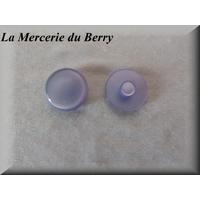 Bouton violet pastel, bombé