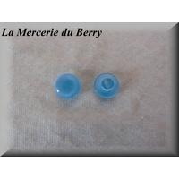 Bouton bleu azur, bombé