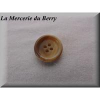 Bouton beige-crème, marbré