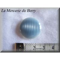 Bouton bleu gris, 22 mm