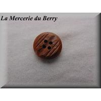 Bouton marron, 19 mm