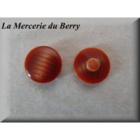 Bouton brun rouge