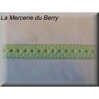 Ruban élastique, motif dentelle, vert d'eau