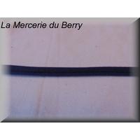 Ruban type lacet, bleu drapeau