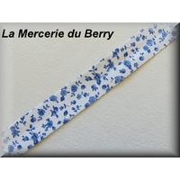 Biais Liberty, fleur bleue