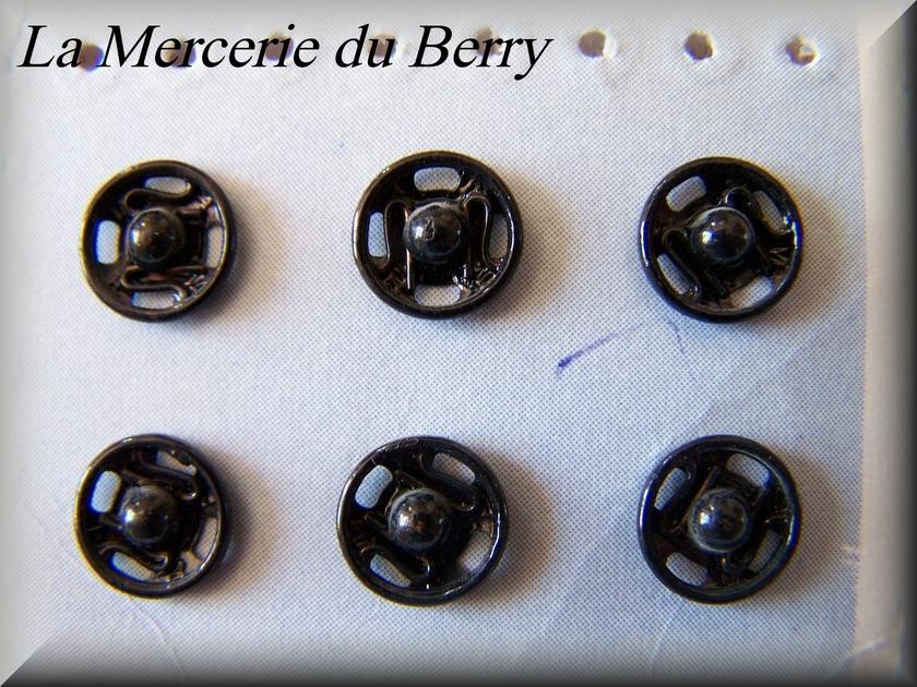bouton pression noir les accessoires articles divers la mercerie du berry. Black Bedroom Furniture Sets. Home Design Ideas