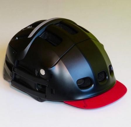 visière rouge casque-velo-blanc-overade-plixi-pliant-xl