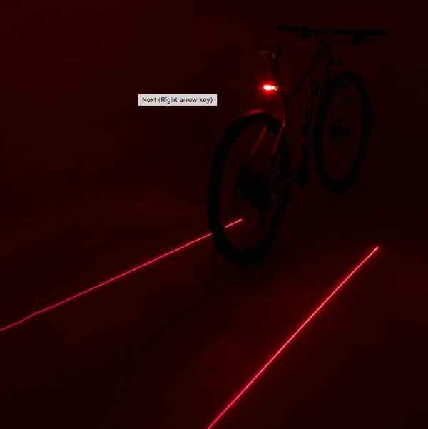 eclairage Laser velo