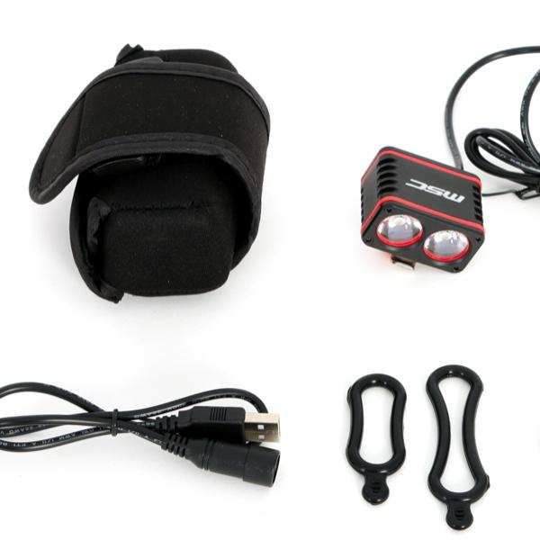 kit coplet eclairage velo 1600L avec batterie