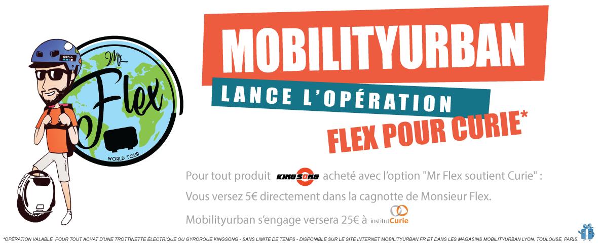 Mr flex pour l'institut Curie