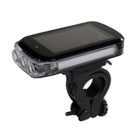 Eclairage avant pour vélo avec capteur solaire