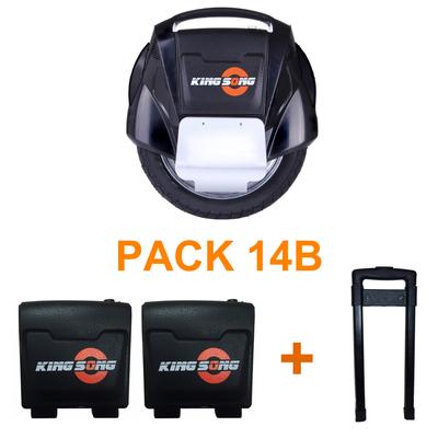 Pack gyroroue KS14B avec deux batteries et un trolley