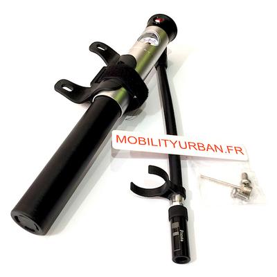 Mini pompe vélo gyroroue trottinette a main avec manomètre