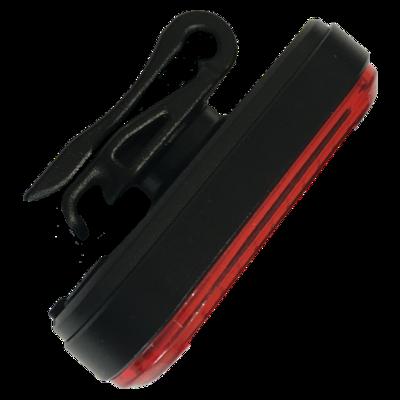 Lumière LED Rouge Nomadled clignotante USB avec clic de fixation 360°