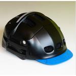 visière bleue casque-velo-blanc-overade-plixi-pliant-xl