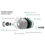 filtre masque antipollution  R-PUR FPP3