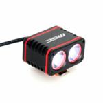 eclairage avant velo 1600L double foyer sur batterie