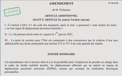 Amendement EDPM forfait mobilité