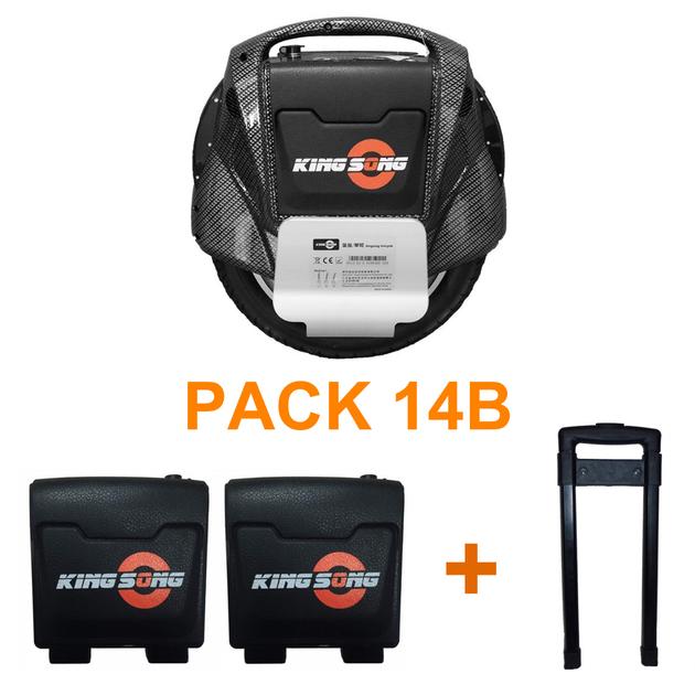 pack gyroroue Kingsong KS14Bcarbone