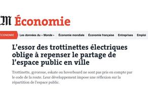 LE MONDE Economique l'essor de la trottinette électrique