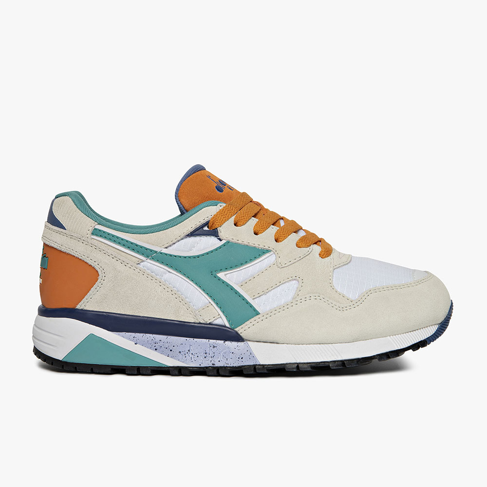 Basket-Diadora-N9002-Blanche-Orange