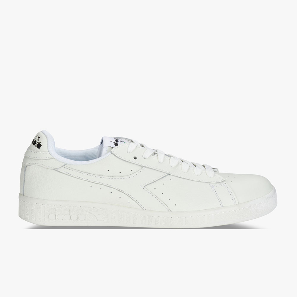 Basket-Diadora-Game-L-Low-Waxed-Blanche