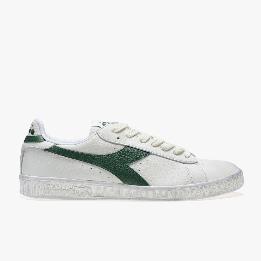 Basket-Diadora-Game-L-Low-Waxed-Verte