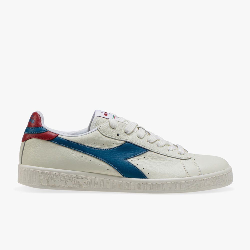 Basket-Diadora-Game-L-Low-Blanche-Bleue