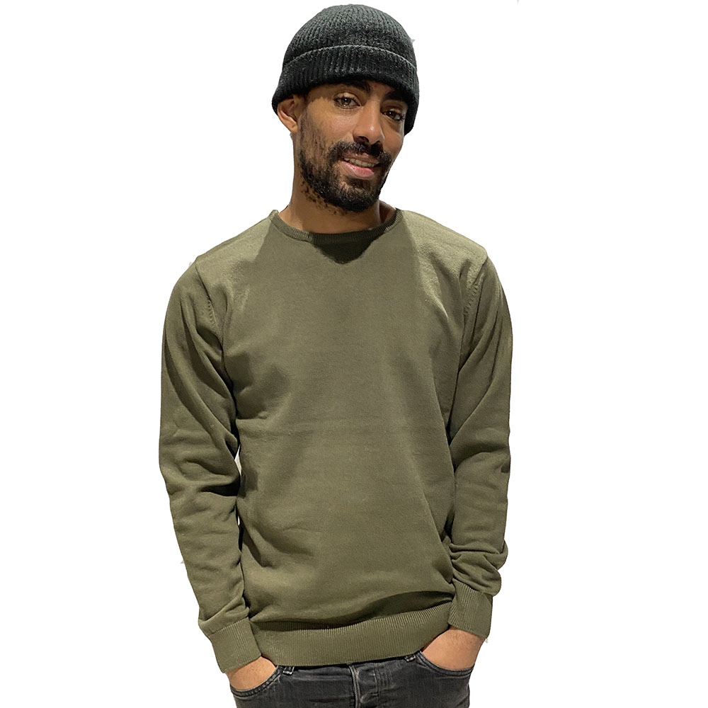 Pull-Basique-Col-Rond-Insidshop-Vert