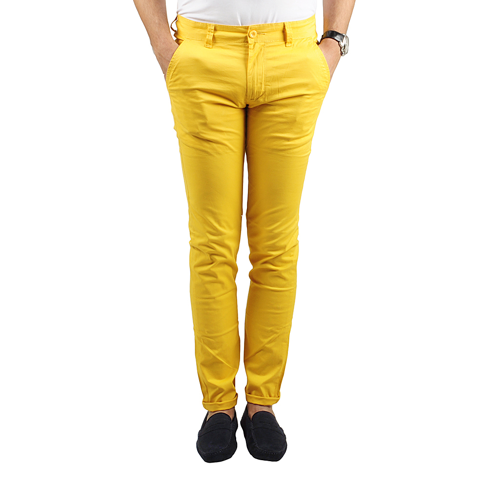 Pantalon Chino Homme Jaune Lee-yo