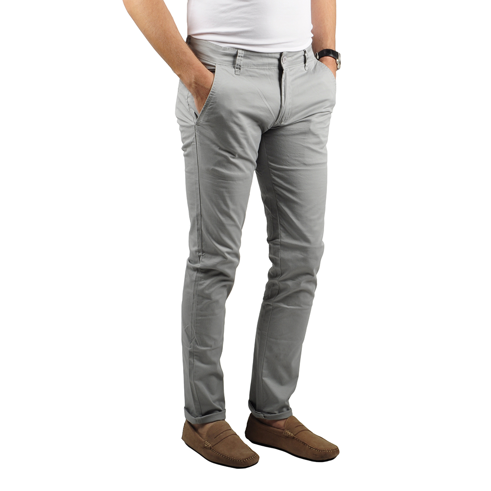 Pantalon Chino Homme Gris Lee-yo