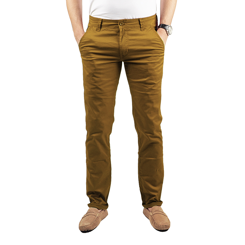 Pantalon chino Homme camel Lee-yo