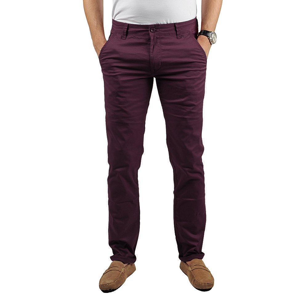 Pantalon Chino Homme Prune Lee-yo