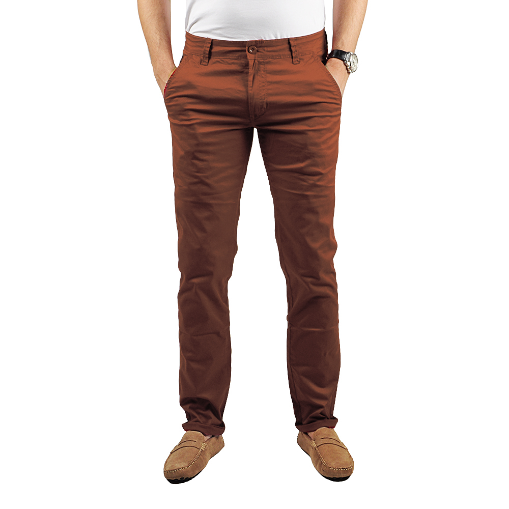 Pantalon Chino Homme Rouille Lee-yo
