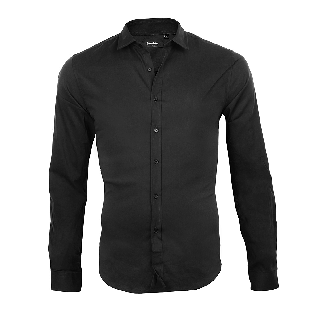 Chemise-Leeyo-Noire-Stretch