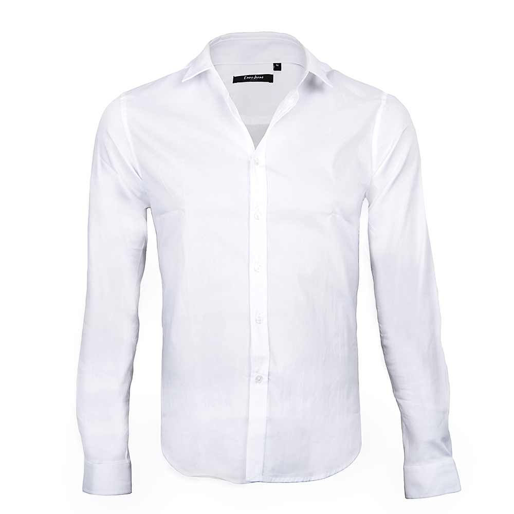 CHEMISE HOMME BLANCHE STRETCH LEE-YO
