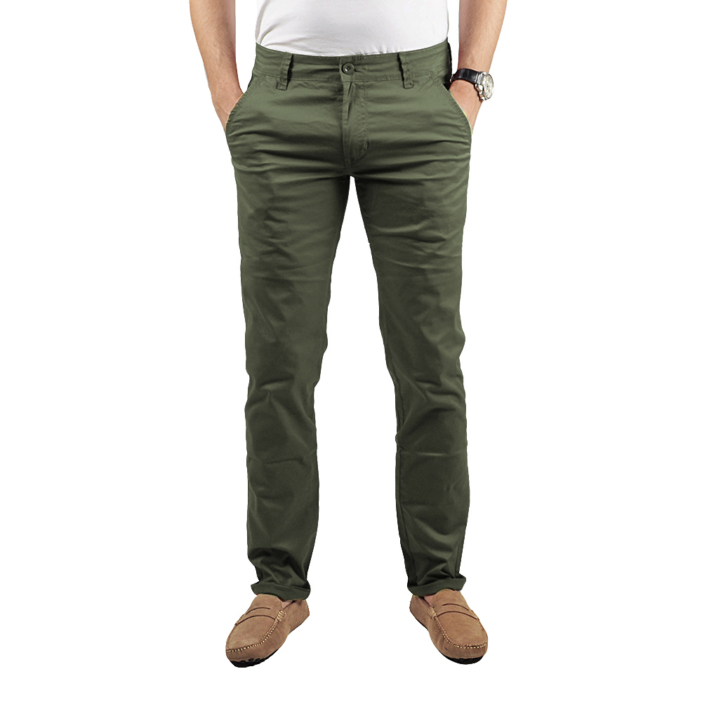 Pantalon Chino Homme Kaki Lee-yo