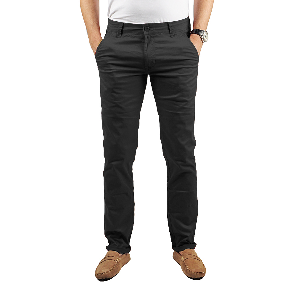 Pantalon Chino Homme Noir Lee-yo