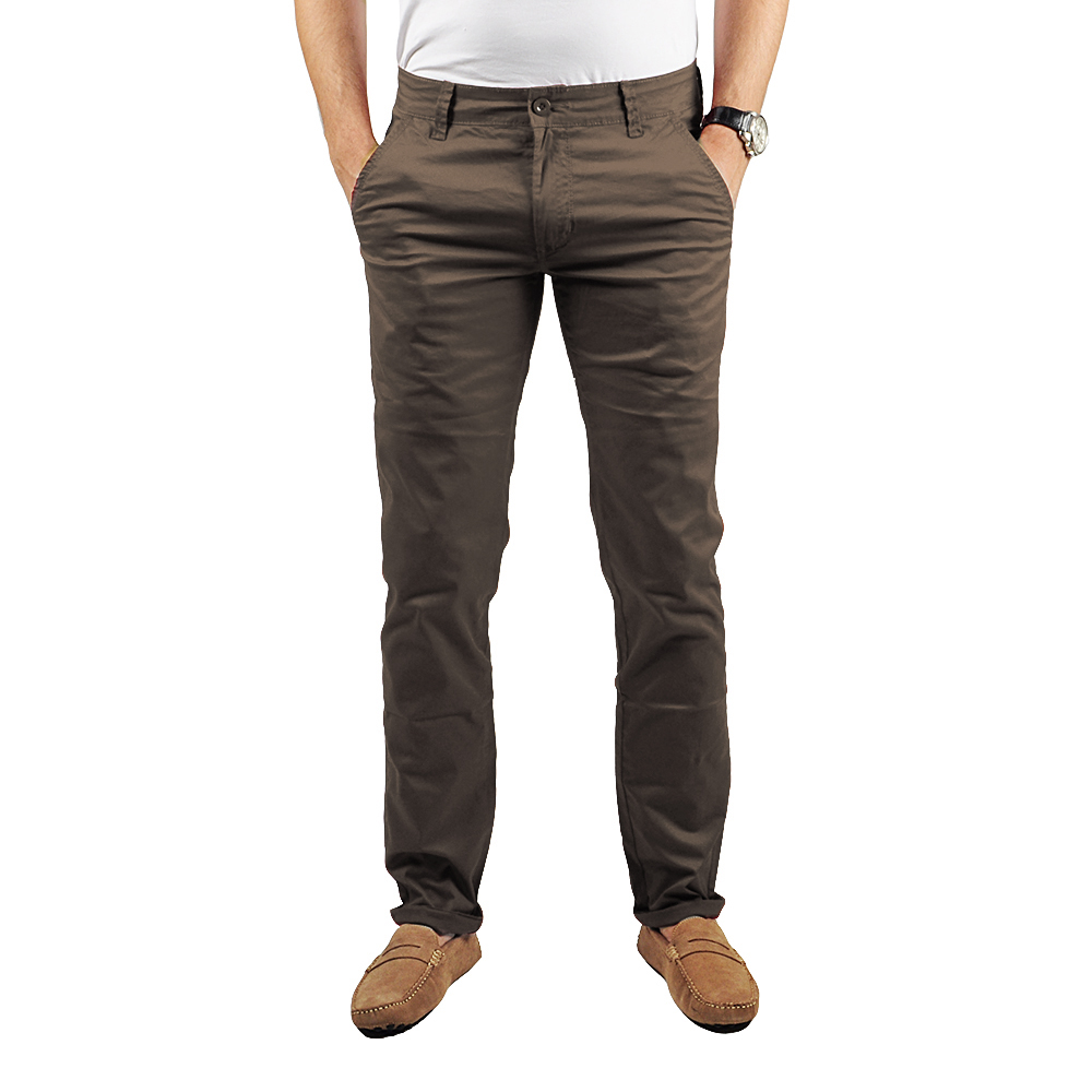 Pantalon Chino Homme Marron Lee-yo