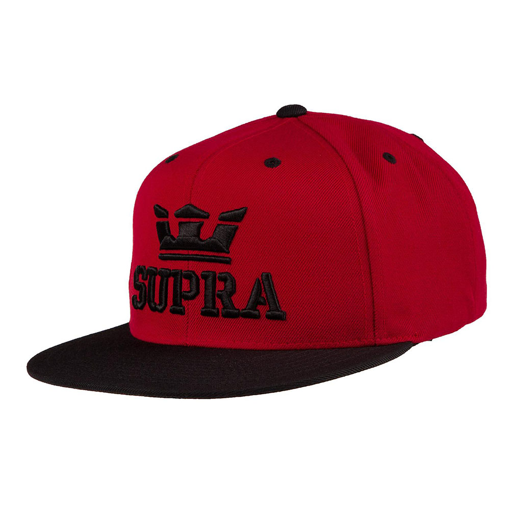 Casquette ABOVE SNAP BURGUNDY BLACK Homme Supra