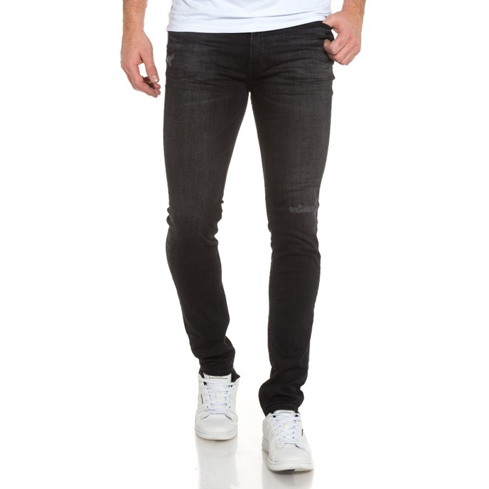 Jeans Teddy Smith Noir Super Skinny Homme