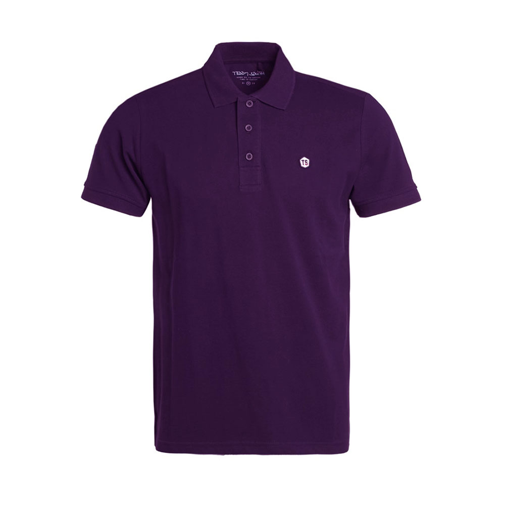 Polo Teddy Smith Violet Homme