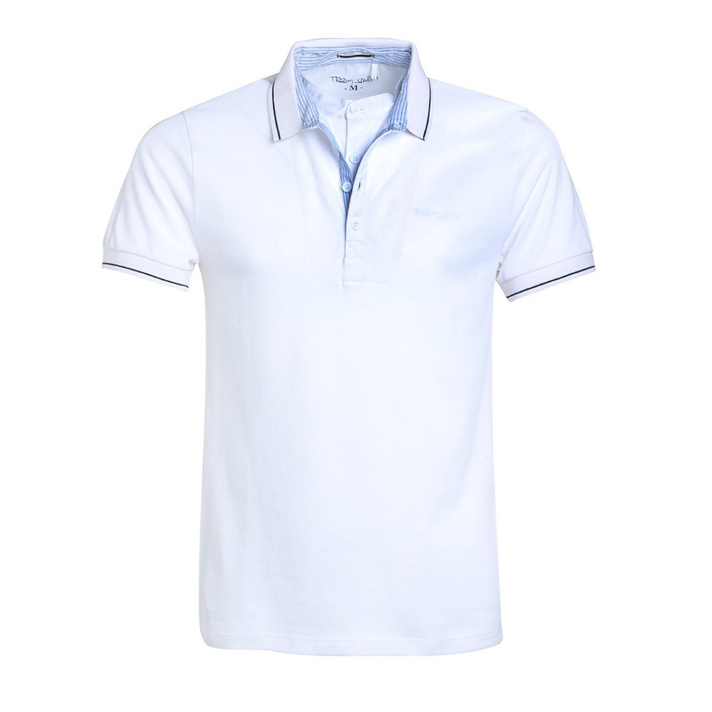 Polo Teddy Smith Blanc Homme