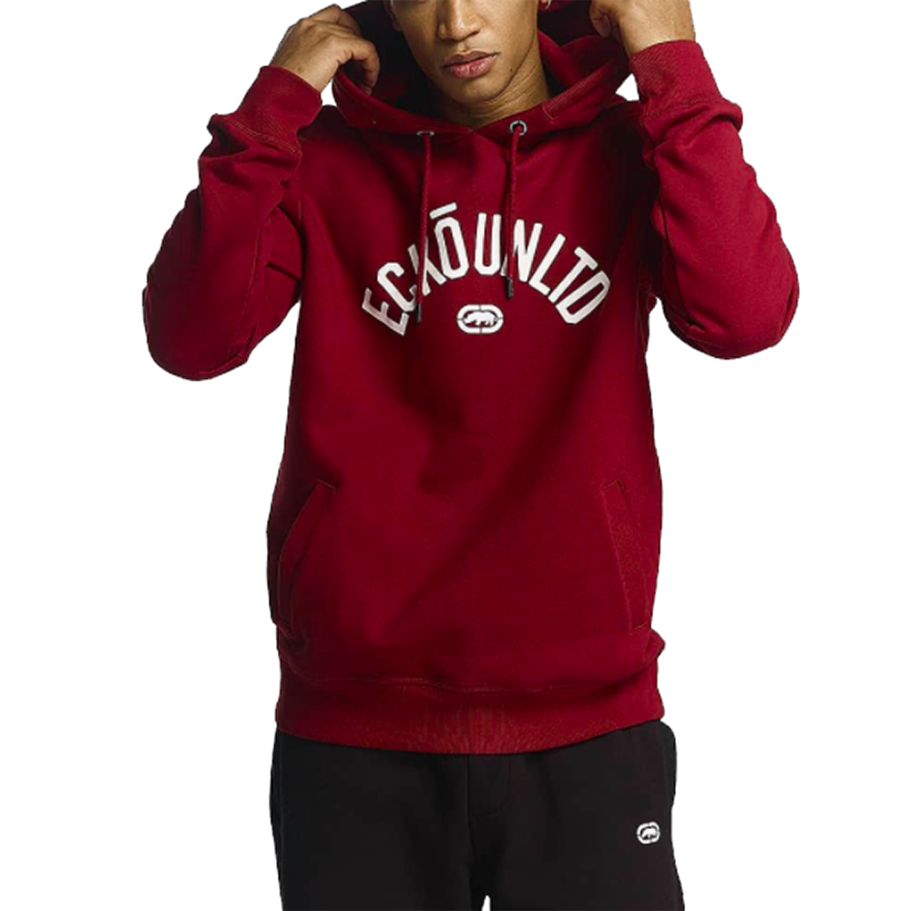 Sweat à Capuche Homme Rouge Ecko
