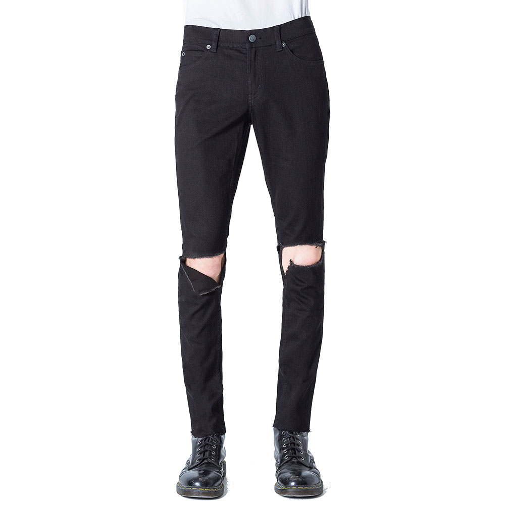 Jeans Tight Ripped Black - Cheap Monday
